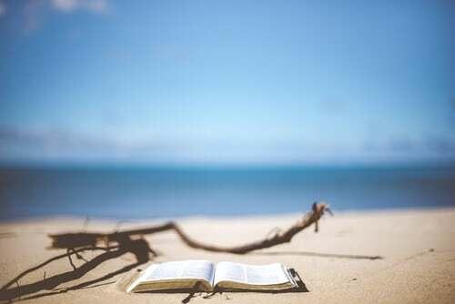 Strand mit Buch